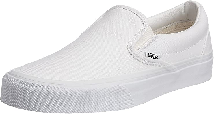 fe Collar Vadear  Amazon.com | Vans Unisex Slip-On True White VN000EYEW00 Skate Shoes |  Fashion Sneakers
