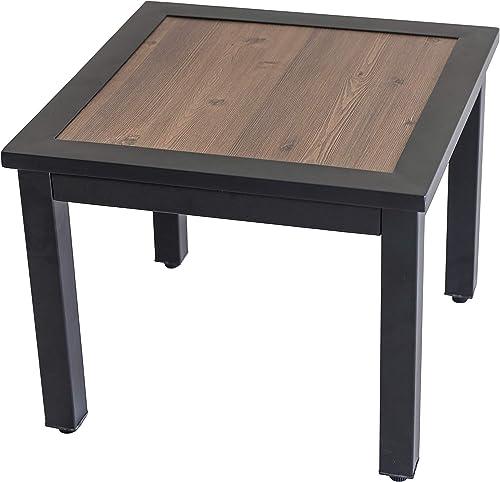 LOKATSE HOME Outdoor Metal Square Side/End Table