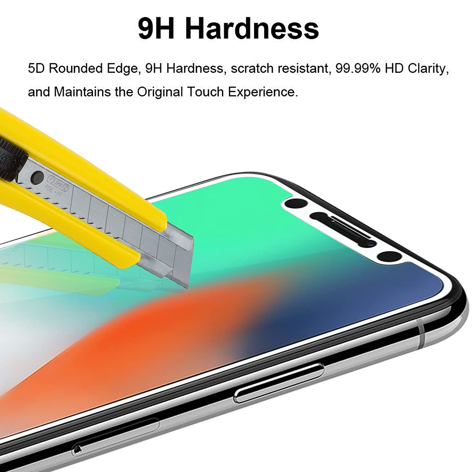 DMG Tempered Glass for iPhone X 5D Curved Edge to Edge Amazon Electronics