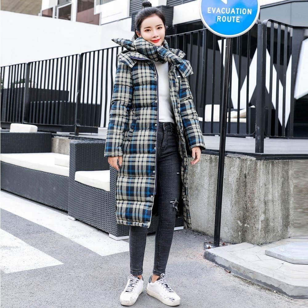 99native Manteau Long Dames,Femme Hiver Chaud Doudoune Col Fourrure Grande Taille Épais Blouson à Capuche Zip Vert