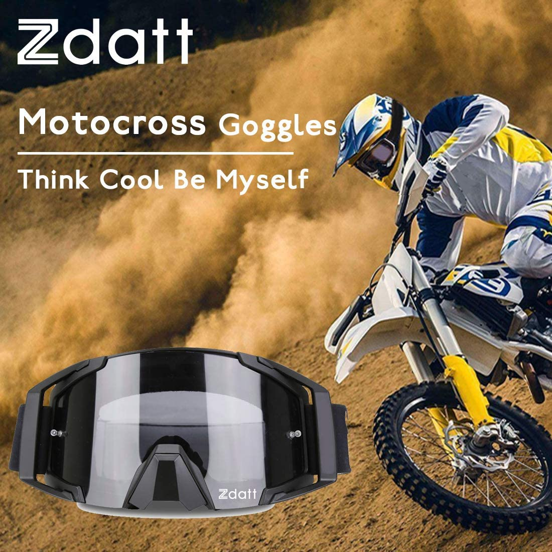 Motorcycle Goggles Dirt Bike Goggles Motocross Goggles ATV Goggles Dustproof Racing Goggles Scratch Resistant Ski Goggles Protective Safety Glasses