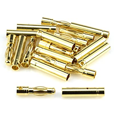 Apex RC Products 4.0mm Male / Female Gold Plated Bullet Connectors Plugs - 10 Pair #1103: Toys & Games