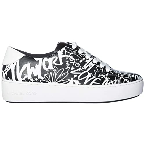 Printed Sneakers Poppy Lace Kors Femmes Up Chaussures Michael yI7gv6Ybf