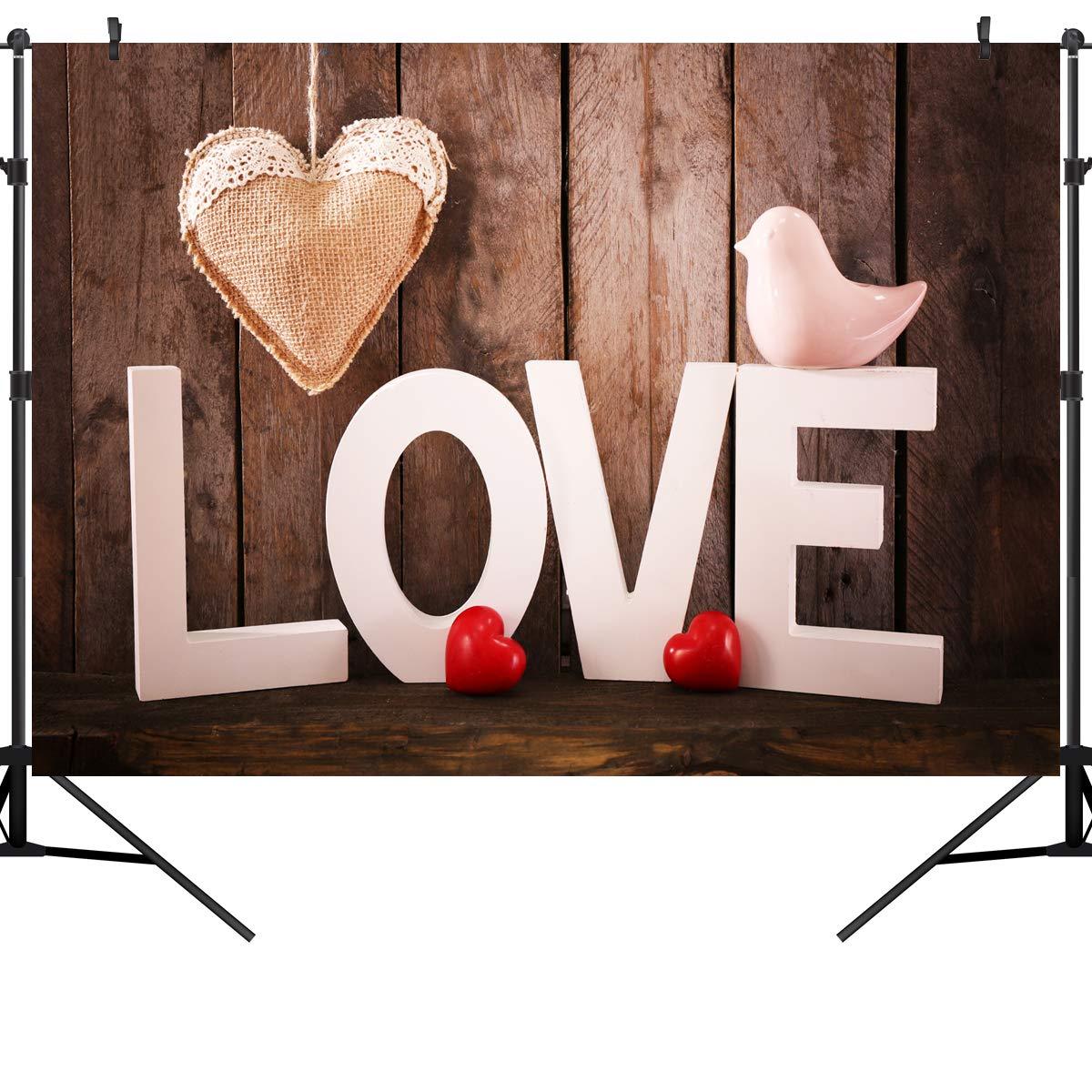 OUYIDA 7X5FT バレンタインデーテーマ 写真撮影用背景布 コンピューター印刷ビニール背景幕 TD58 10X8FT VDD005 B07L4LVX33