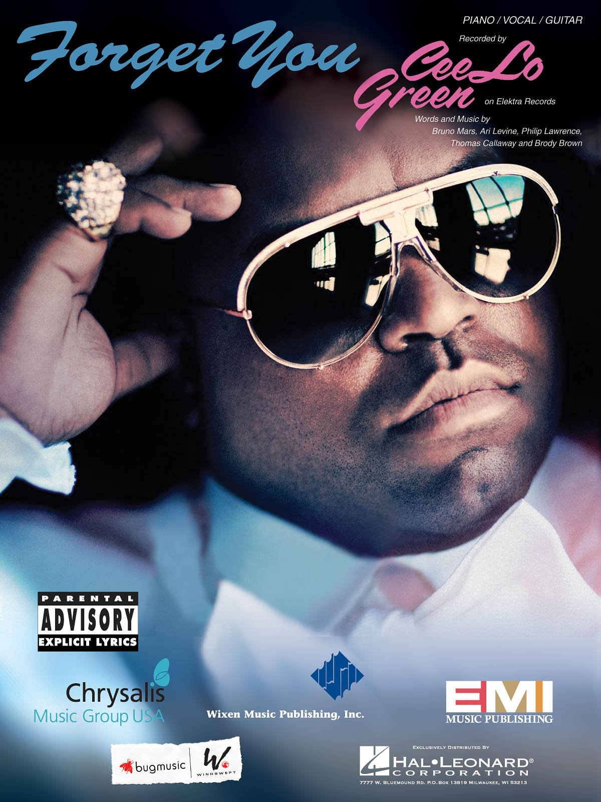 Cee Lo Green Forget You Pianovocal Sheet Music 0884088552411