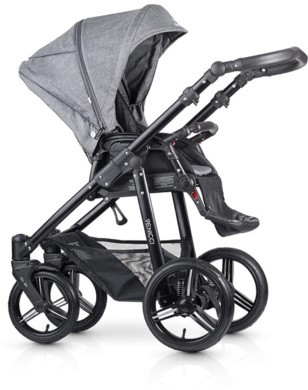 46513fbc3145 Venicci Shadow 3-in-1 - Denim Grey Travel System  Amazon.co.uk  Baby