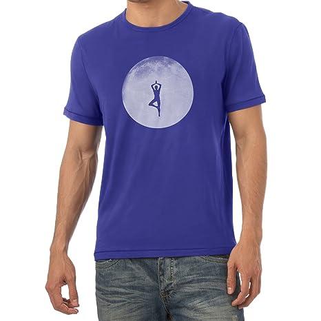 Texlab Full Moon Yoga Camiseta, Hombre, Marine, XX-Large ...