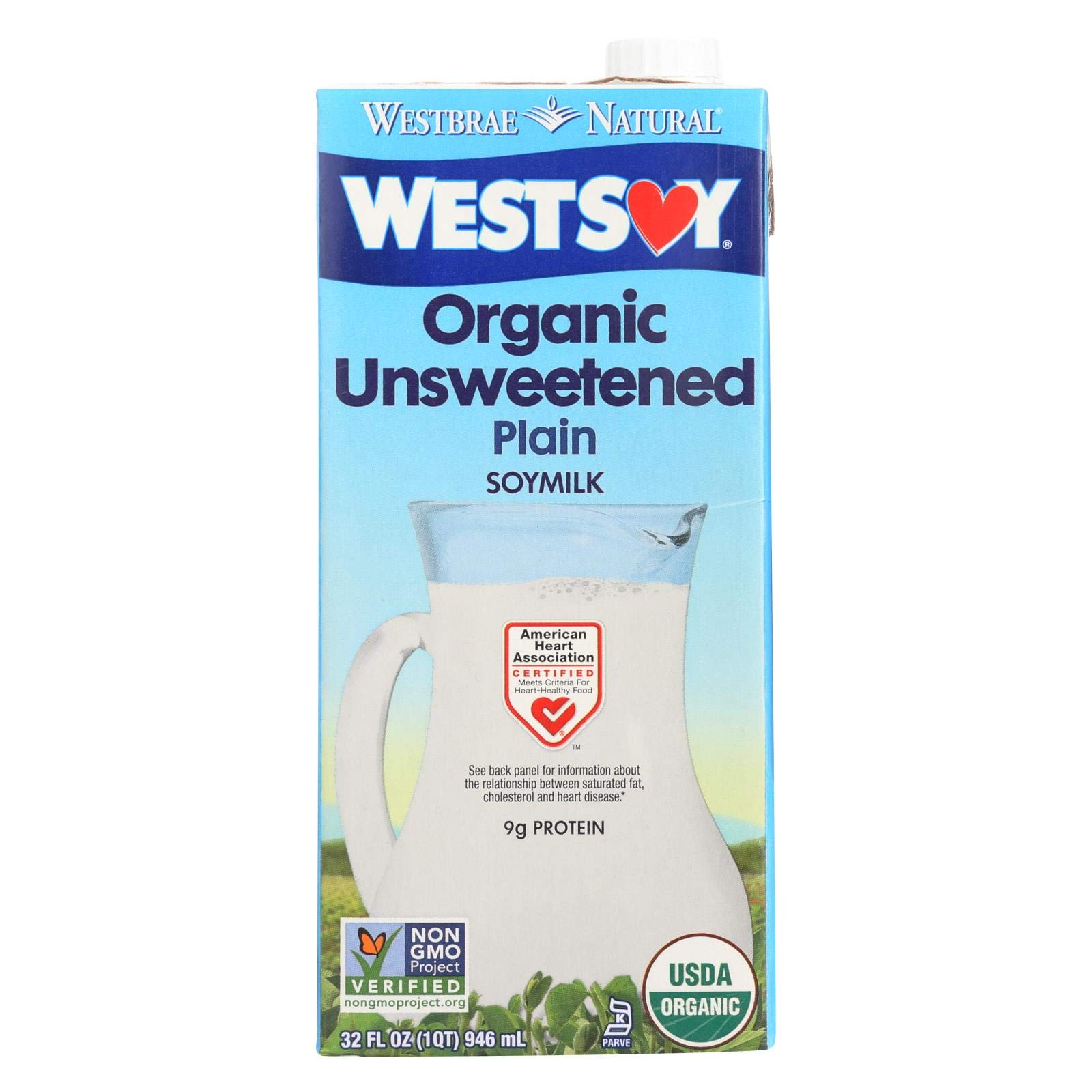 Westsoy Unsweetened Westsoy 32 Oz, Pack of 12 by West Soy