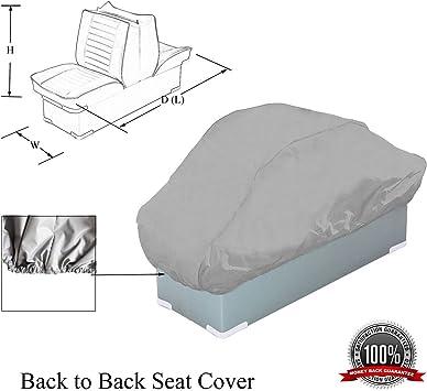 "New Heavy Duty 300 Denier Folding Boat Seat Cover Fits 20/""D*18/""W*14/""H Gray"