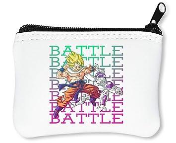 Battle | Dragon Ball | DBZ | Goku | Frieza | Anime Series | Superhero | Figure | Power | Simple | Shape Billetera con Cremallera Monedero Caratera: ...