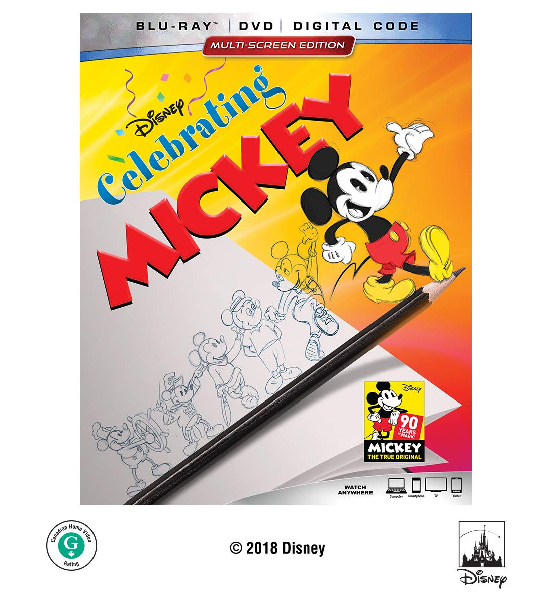 Blu-ray : Celebrating Mickey (With DVD, Dolby, AC-3, Digital Copy, 2 Pack)