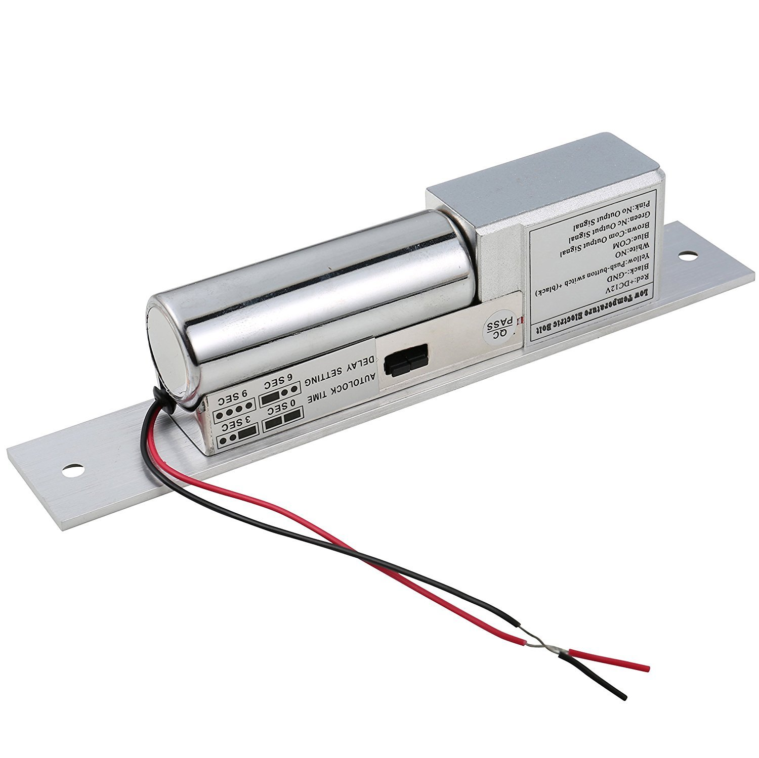 UHPPOTE Low Temperature Electric Bolt Lock Fail Safe Mode DC12V For Access Control Wood Metal Door