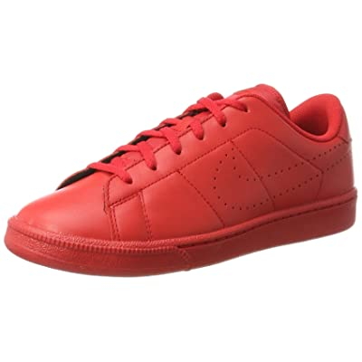 NIKE Tennis Classic Premium Kids Trainers Red 834123 600, Size:38.5