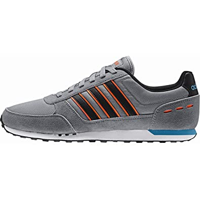 check out 4a763 82dab Adidas Neo City Racer Grey Black sorang Amazon.co.uk Shoes