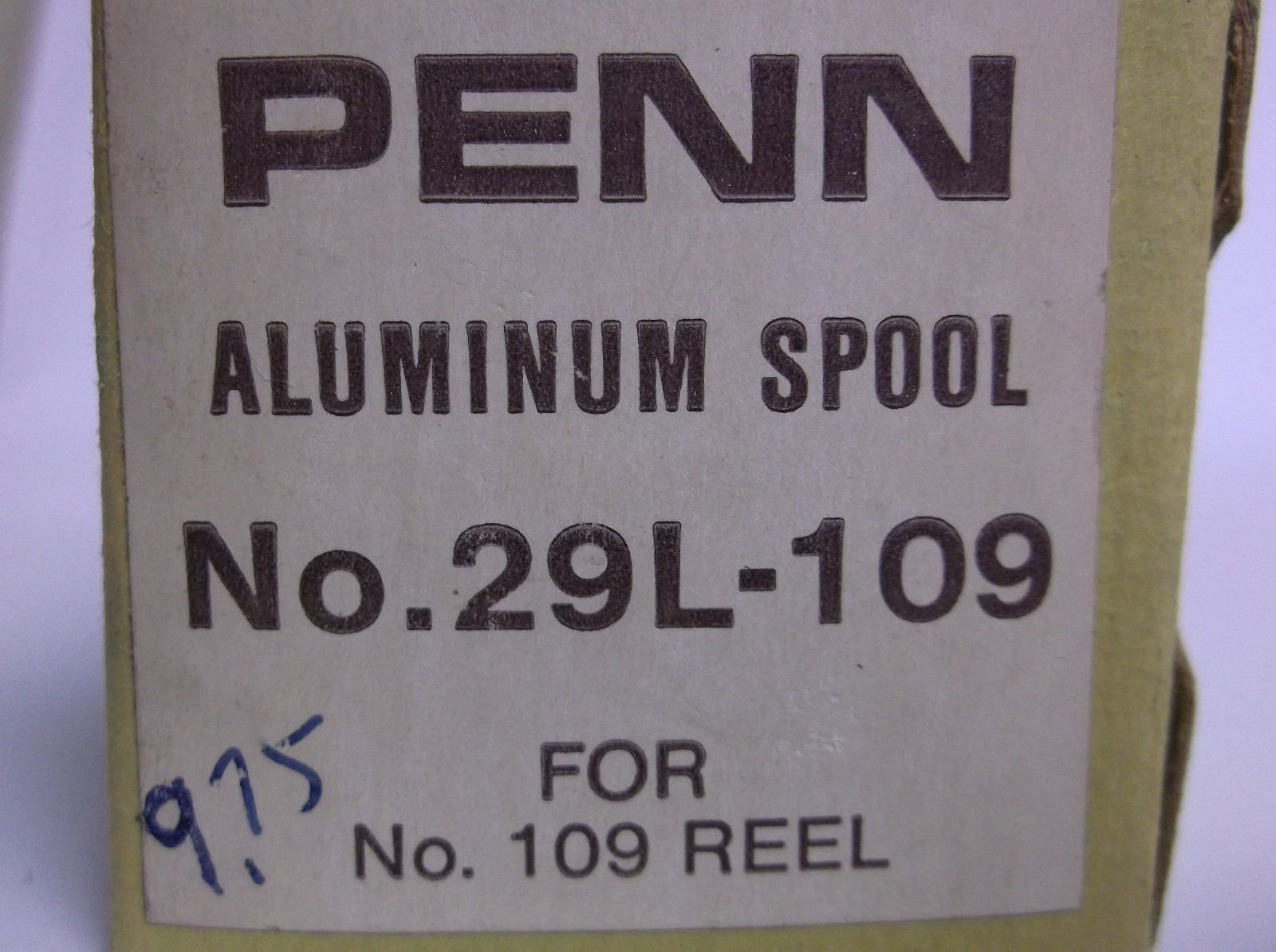 Penn Conventional Reel Part - 29L-109 Peerless 109M - Spool Assembly