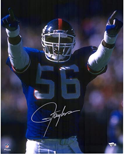 9e5dca303 Lawrence Taylor New York Giants Autographed 16   x 20   Hands Up Photograph