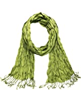 Falari All Seasons Soft Crinkle Scarf Solid Color