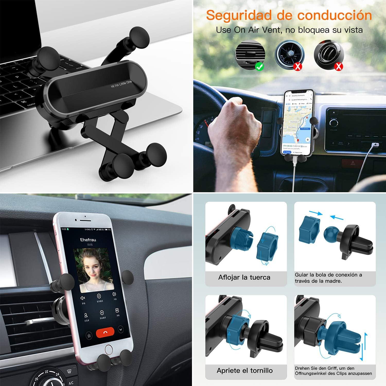 Galaxy S10 // S10 Plus // S10e // 8 // S7 Gray ICHECKEY Soporte para Tel/éfono Celular para Autom/óvil Movil Coche para Rejillas del Aire de Coche para iPhone 11 Pro//XS MAX//XR//X // 8//7//6