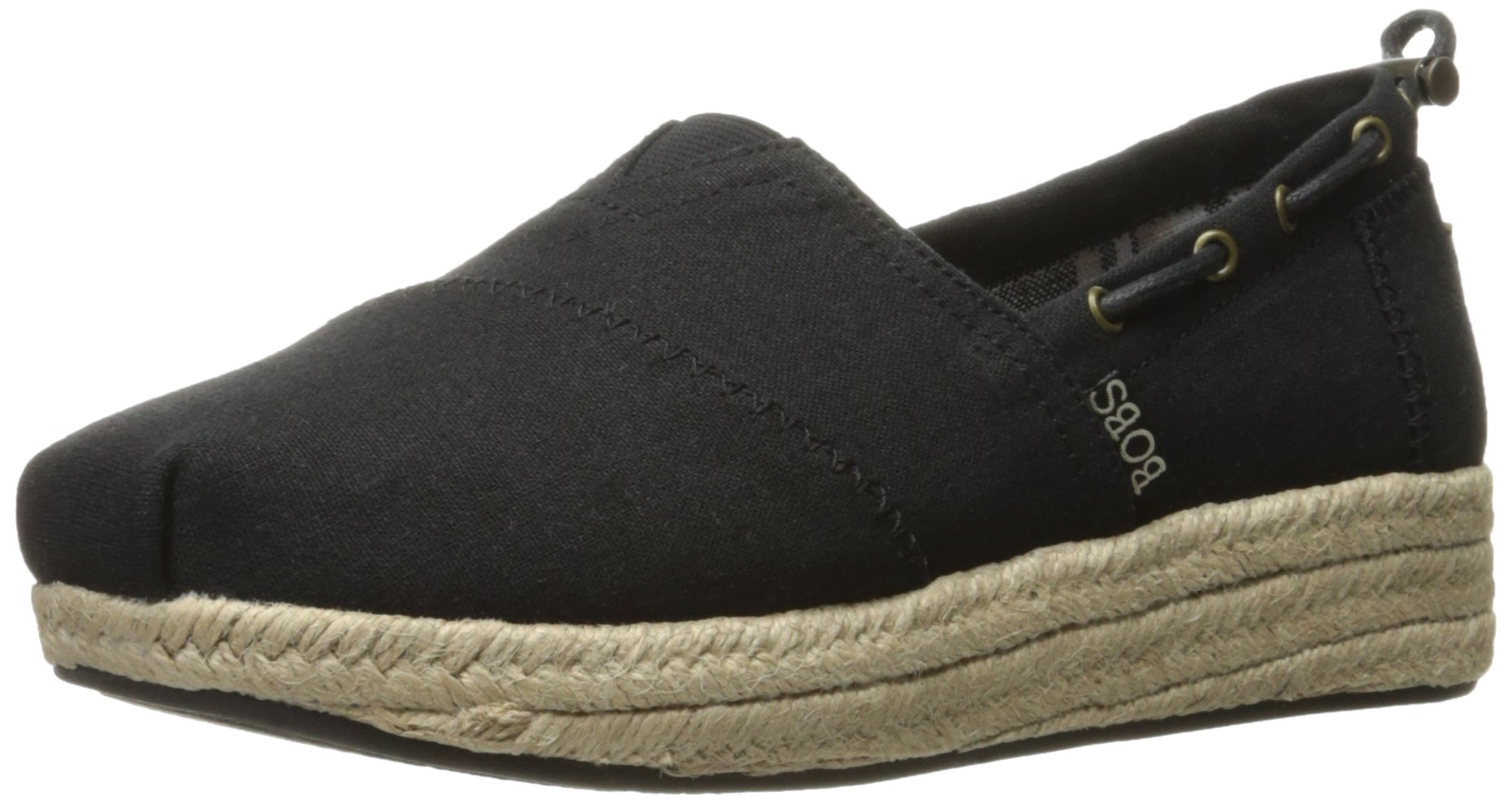 Skechers BOBS from Women's Highlights-Set Sail Flat, Black Sail, 5.5 M US