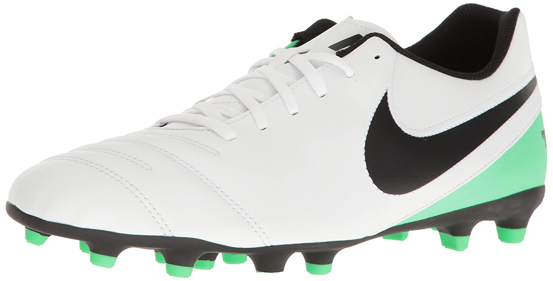 size 40 aa38b 95865 Amazon.com   Nike Tiempo Rio III Mens FG Outdoor Soccer Shoes White Black  Electro Green (12 M US)   Soccer