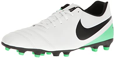 Nike Tiempo Genio Leather FG - Botas unisex, color negro/blanco, talla 40.5