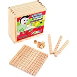 Carlu Brinquedos - Material Dourado - Matemática Jogo Educativo da Madeira, 5+ Anos, 1111 Peças , Multicolorido, 1231