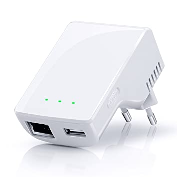 CSL - Repeater 300 Mbit WiFi / WLAN Access Point | amplificador WLAN | frecuencia de