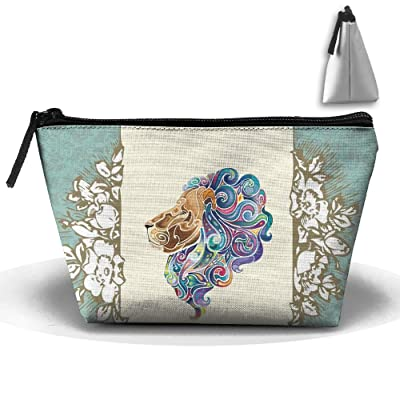 Trapezoid Portable Travel Toiletry Pouch Flower Creative Background Cosmetic Bags Multifunction Clutch Bag on sale