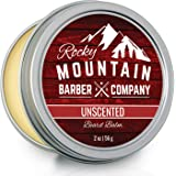 Beard Balm - Classic Unscented - 100% Natural - Premium Wax Blend with Nutrient Rich Bees Wax, Jojoba, Coconut Oil