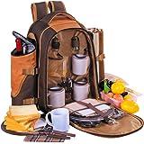 Apollowalker 4 persona zaino da picnic borsa termica con posate & coperta