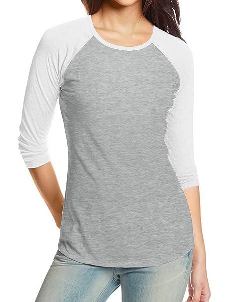 REGNA X Love Coated Womens Round Neck 3 4 Sleeve Raglan t-Shirts