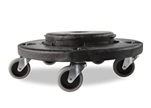 Rubbermaid Commercial Products FG264000BLA Brute Twist on/Off Round Dolly - Pack of 2