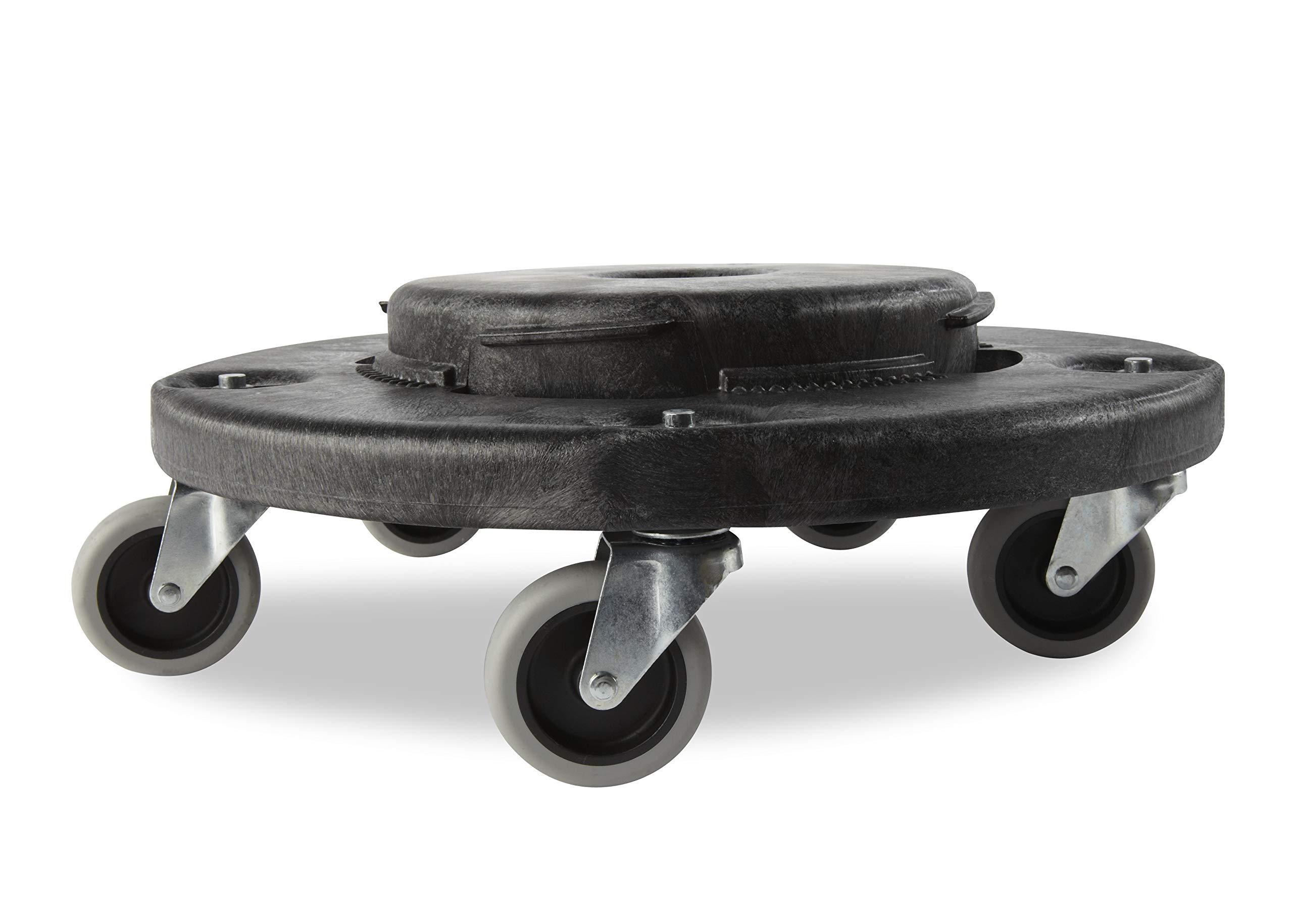 Rubbermaid Commercial Products FG264000BLA Brute Twist on/Off Round Dolly, Black (Pack of 2)
