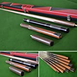 """58.5"""" Handmade 4 piece Snooker Cue with a Rosewood Butt, Black and Red Case, Extension, 6"""" Mini-Butt"""
