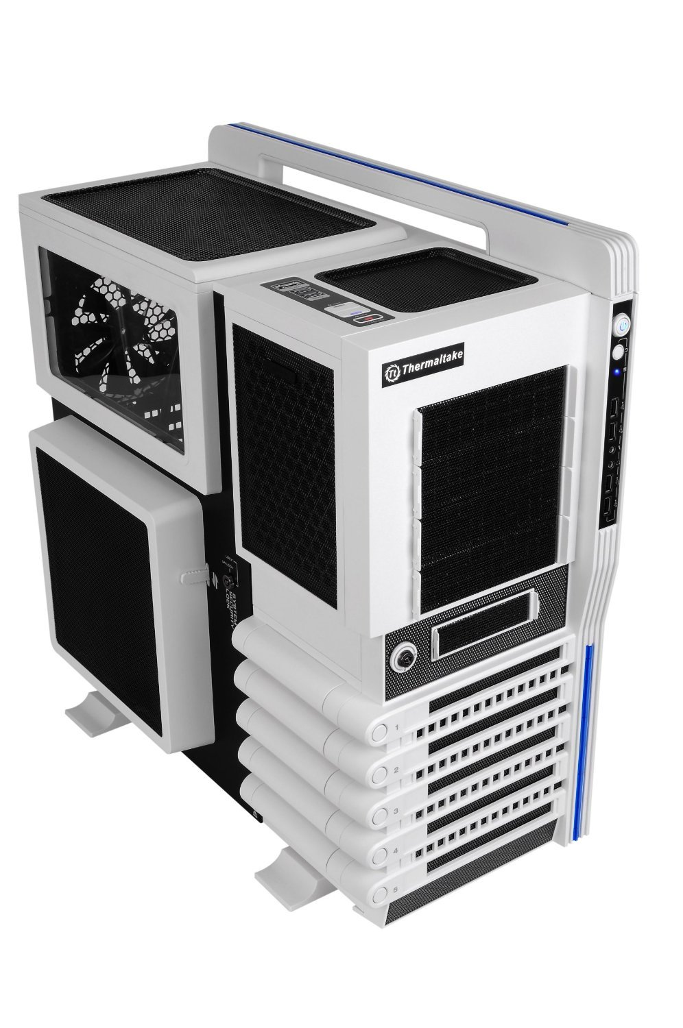 Thermaltake LEVEL 10 GT Super Gaming Modular Full Tower Computer Case - VN10006W2N Snow Edition
