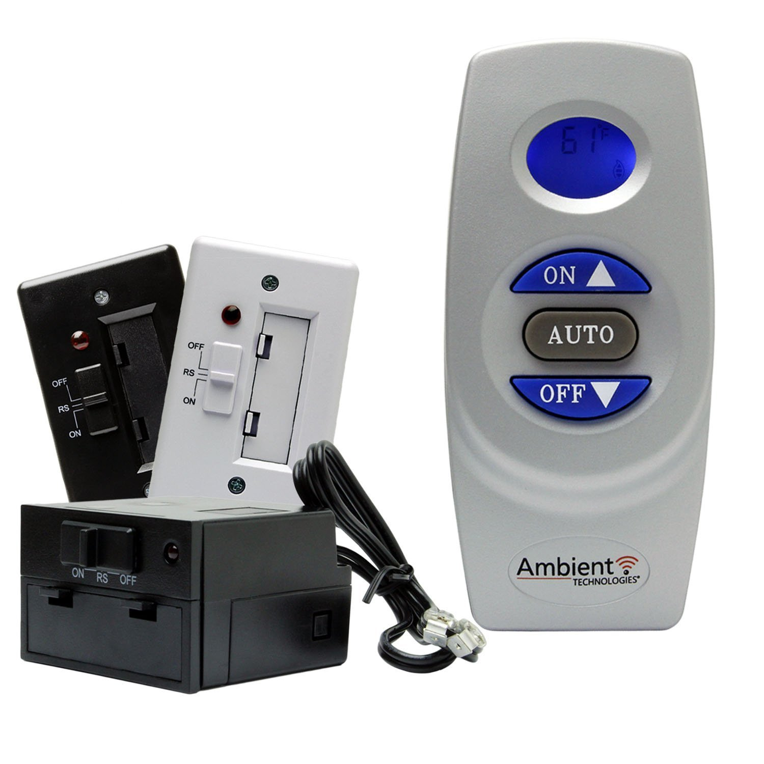 Fireplace Remote Control with Thermostat LCD Battery Operated | Majestic, Monessen, Vermont Castings Ambient Technologies
