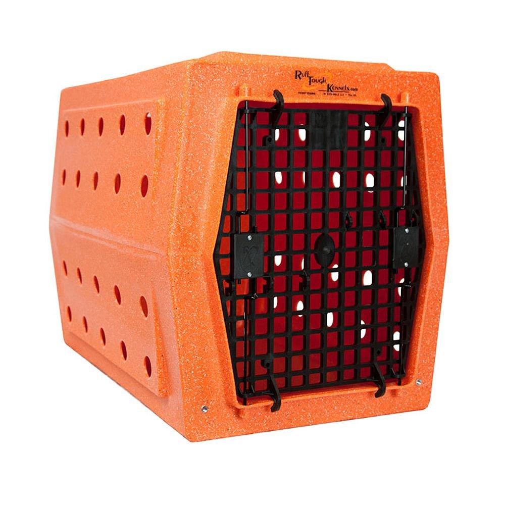 Ruff Tough Kennels Intermediate Double Door Kennel, Crate, Dog House, (L-32'', W-20'', H-22 1/2'') (Orange)