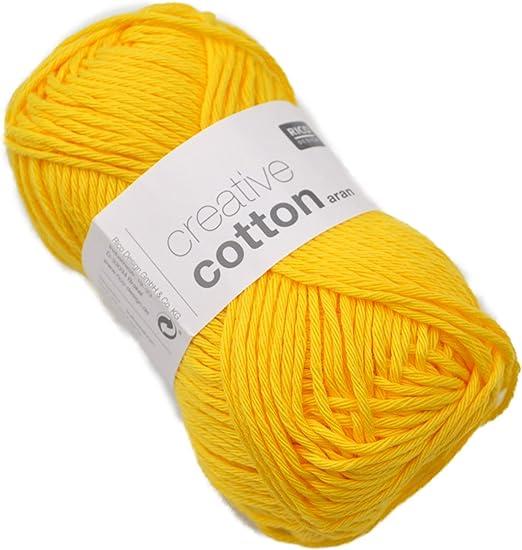 Creative Cotton Aran - Ovillo de algodón (50 g, 85 m de largo) 68 ...