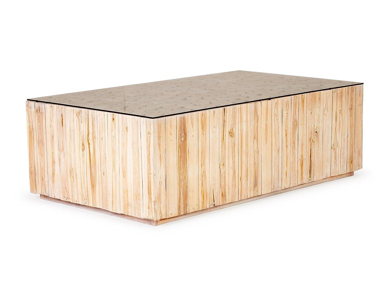 massivum Couchtisch Pangjati 140x45x80 cm Teak natur lackiert