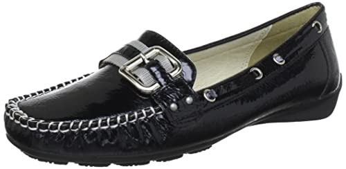 Andrea Conti 879003, Mocasines para Mujer, Negro (Schwarz 002), 38 EU: Amazon.es: Zapatos y complementos