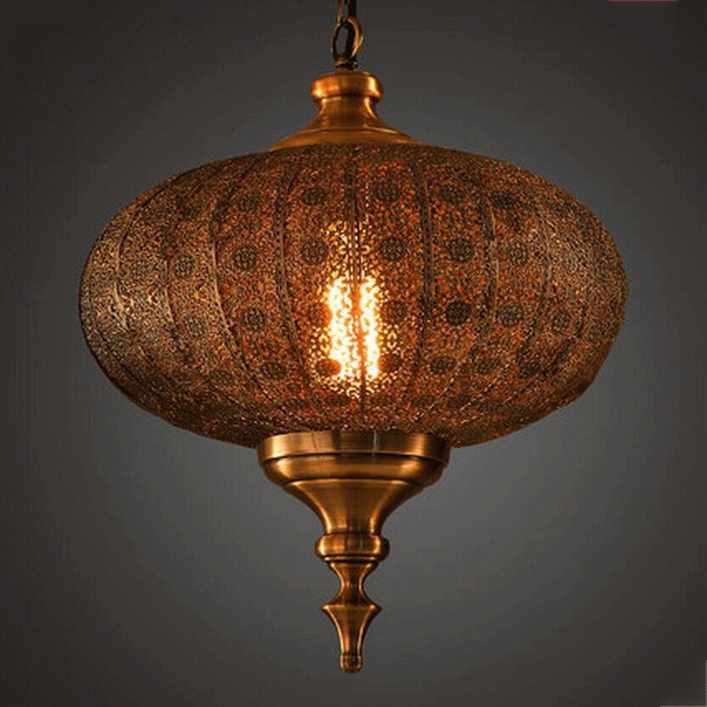 DIDIDD Ceiling Chandelier-Chandelier Retro Personalized Chandeliers Oriental India Pataliputra Metal Lantern Chandelier