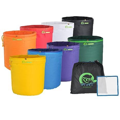 iPower 5-Gallon 8-Bag Herbal Ice Bubble Hash Bag Essense Extractor Kit Free d30e67dbab20e