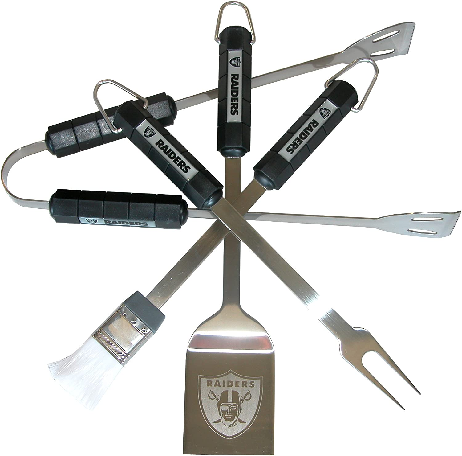 NFL Oakland Raiders 4-Piece Barbecue Set