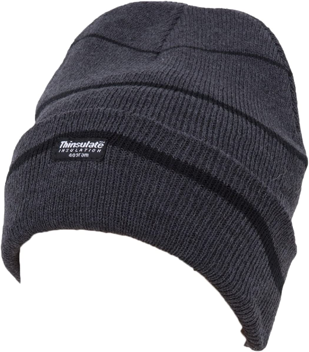 Chapeau Adultes Homme à rayures Thinsulate-Hiver Beanie Hat-taille unique
