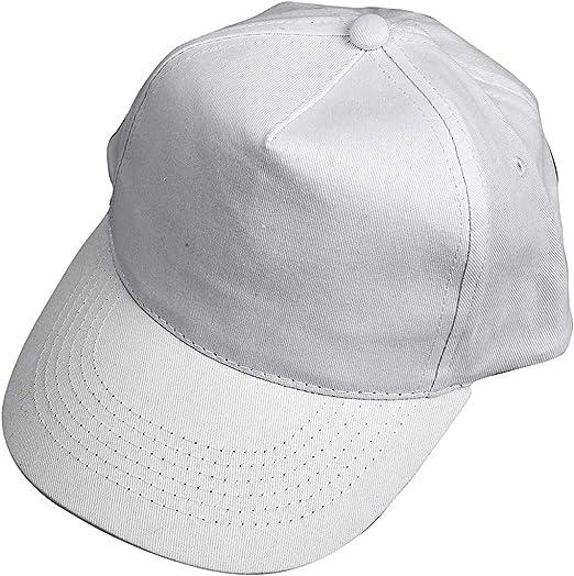 Gorra, medidas 49,5-56 cm, blanco, 1ud: Amazon.es: Hogar