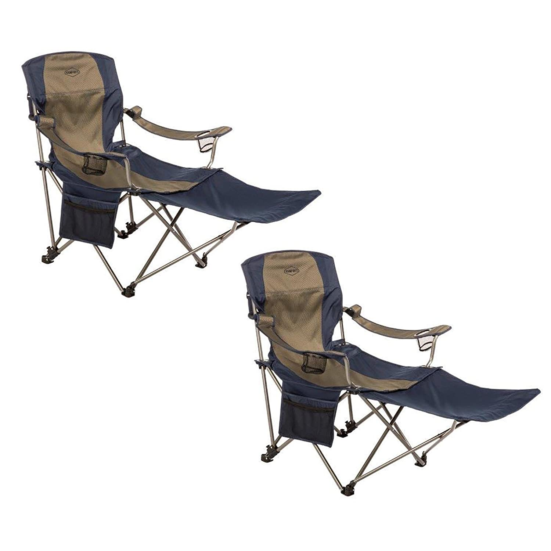 kamp-riteアウトドア折りたたみTailgatingキャンプ椅子Detachableフットレスト、2パック B077MPJ5C7