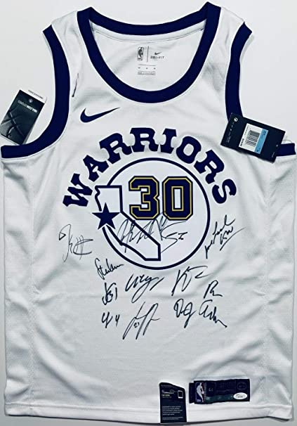 664616de398 Image Unavailable. Image not available for. Color  2018-19 Golden State  Warriors Team Autographed Signed Basketball Jersey Stephen Curry Memorabilia  JSA