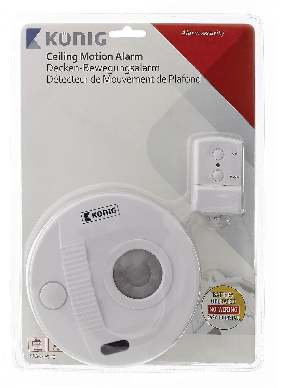 Konig - König Sas-Apc10 - Alarma De Techo con Sensor De Movimiento De 130 Db: Amazon.es: Bricolaje y herramientas