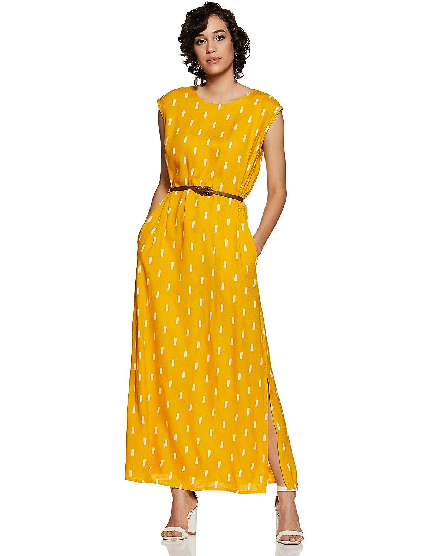 Amazon Brand - Myx Women's Ethnic Shift Sleeveless Dress
