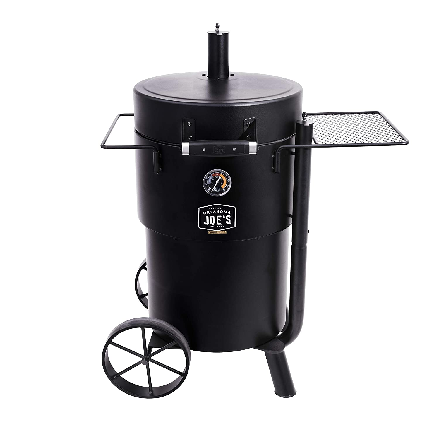 Oklahoma Joe s 19202089 Bronco Charcoal Smoker, Black